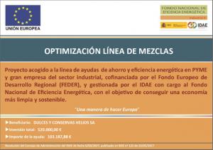 Optimización energética de la línea de mezclas Helios 2021